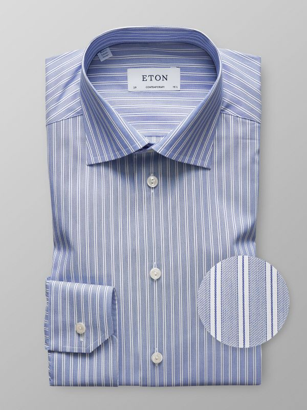Blue Striped Stretch Shirt