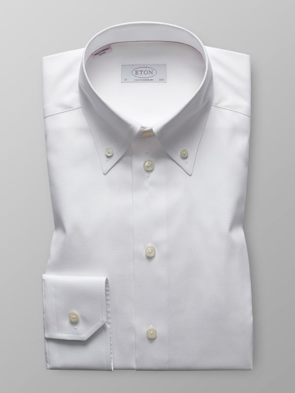 White Shirt with Button Down Collar