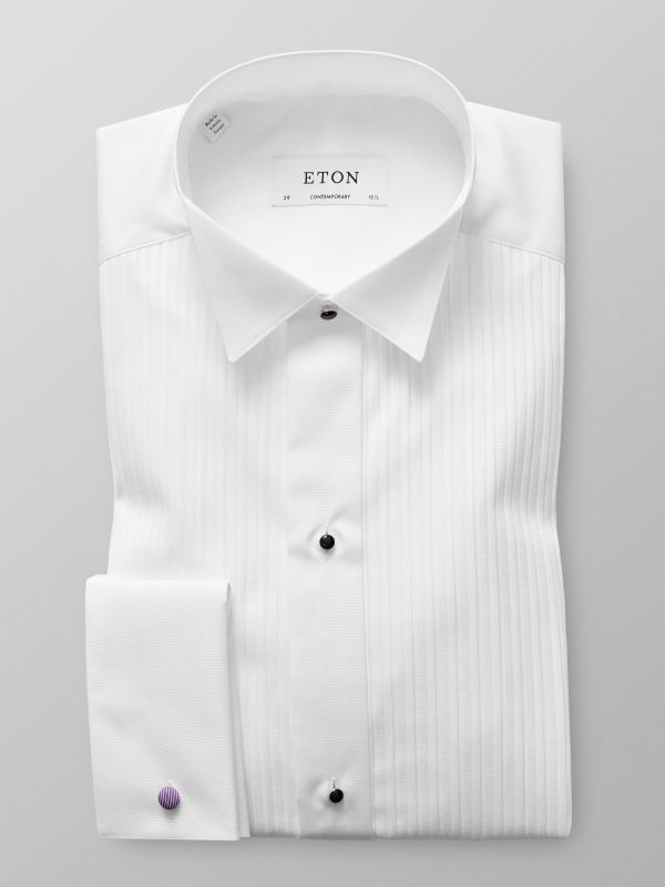 Plissé Wing Collar Shirt