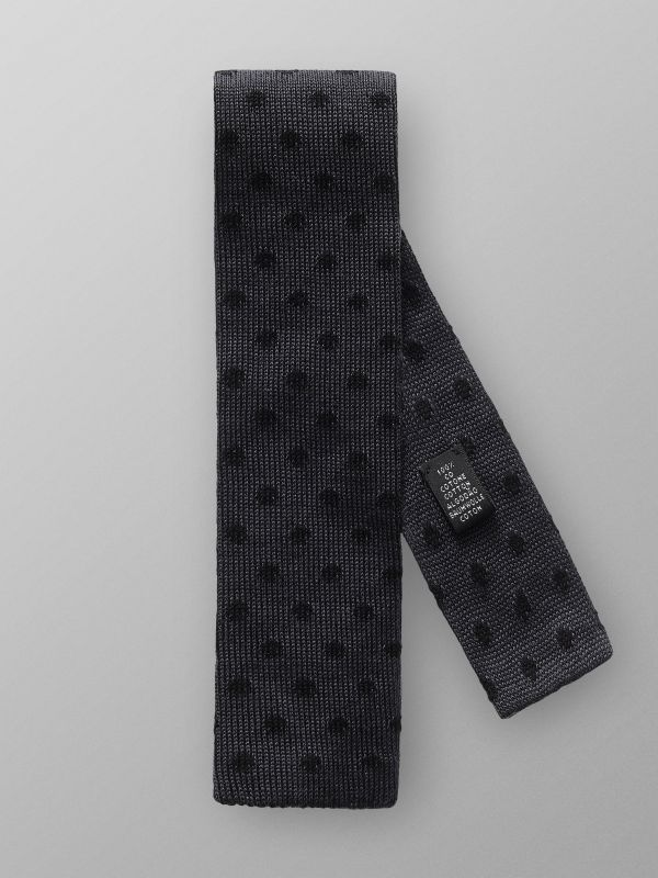 Knitted Dotted Silk Tie