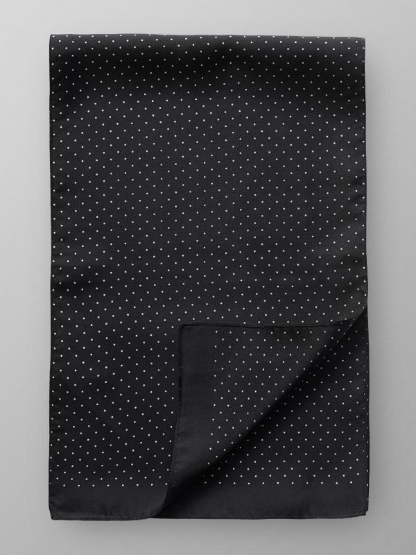 Black Dotted Silk Scarf