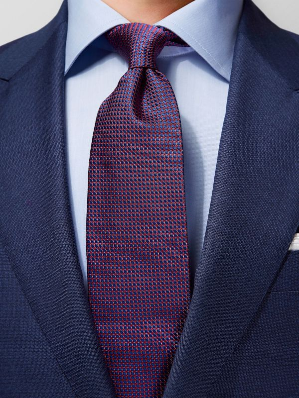 Red Woven Pattern Silk Tie
