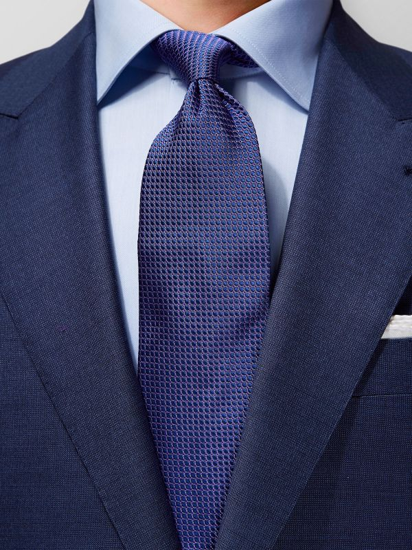 Purple Woven Pattern Silk Tie
