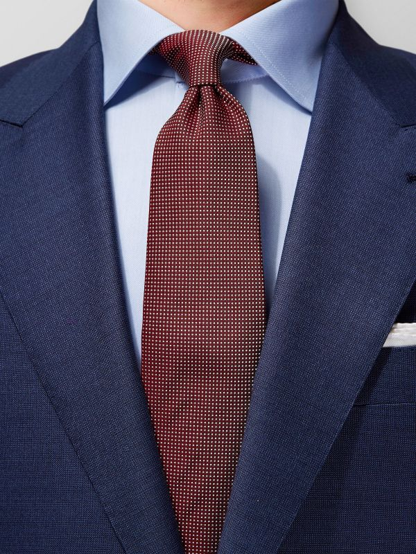 Red Signature Dots Silk Tie