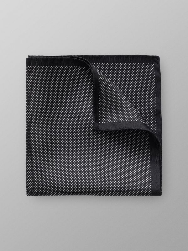 Black Signature Dots Silk Pocket Square