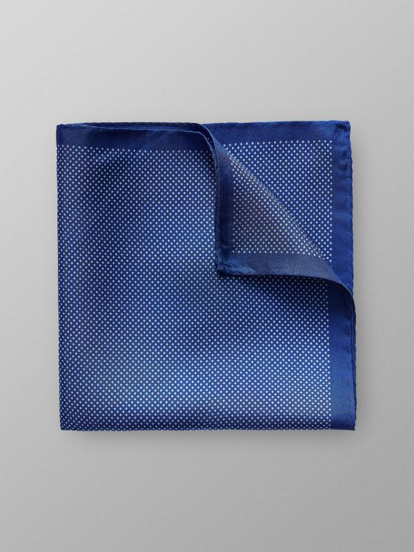 Blue Signature Dots Silk Pocket Square
