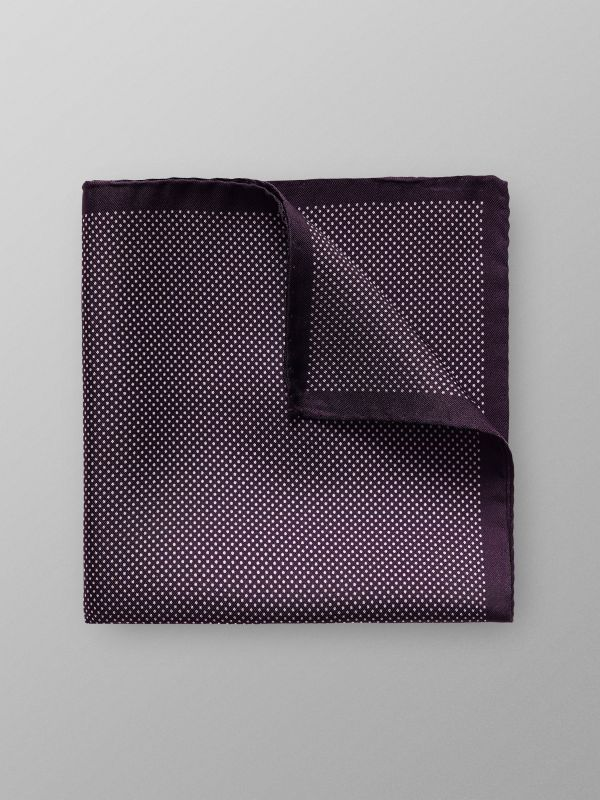 Purple Signature Dots Silk Pocket Square