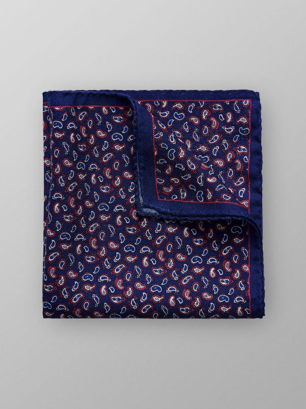 Paisley Wool & Silk Pocket Square