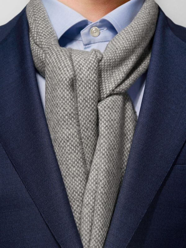 Grey Wool & Cashmere Scarf