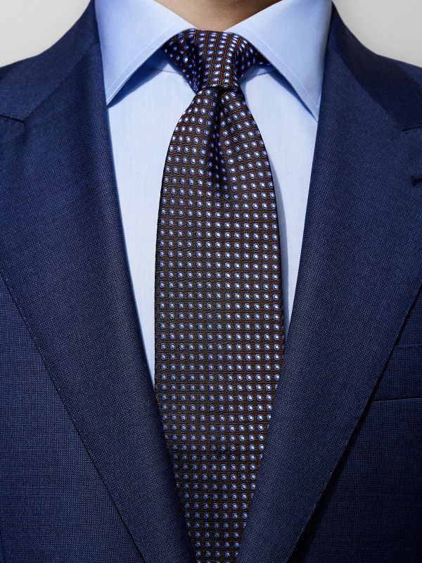 Brown Geometrical Tie