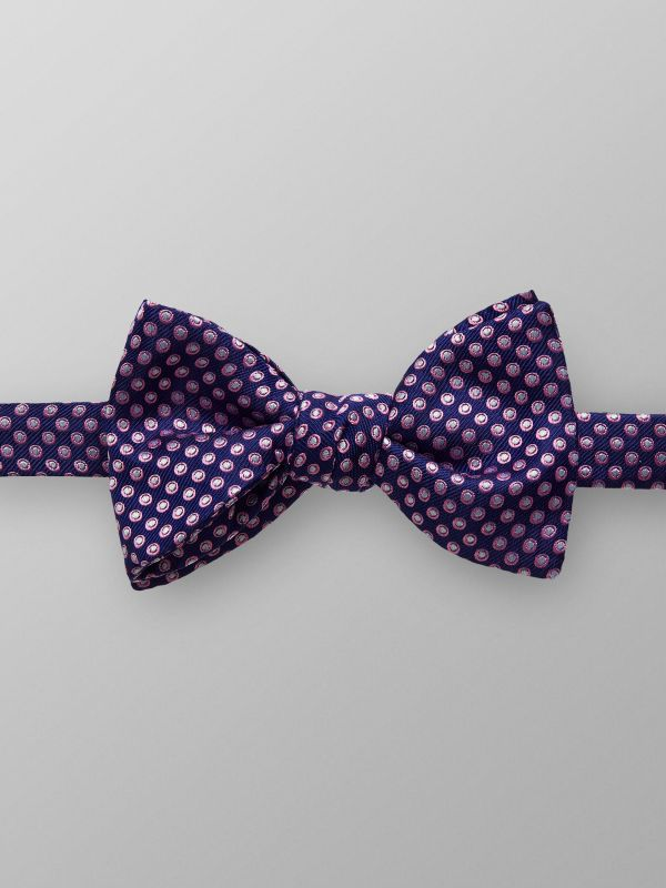 Navy & Pink Dotted Bowtie