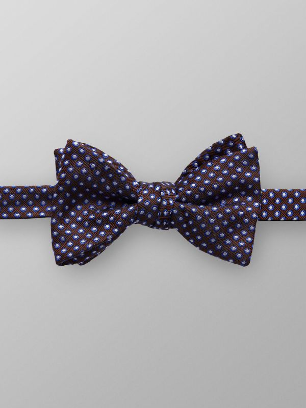 Brown & Blue Dotted Bowtie