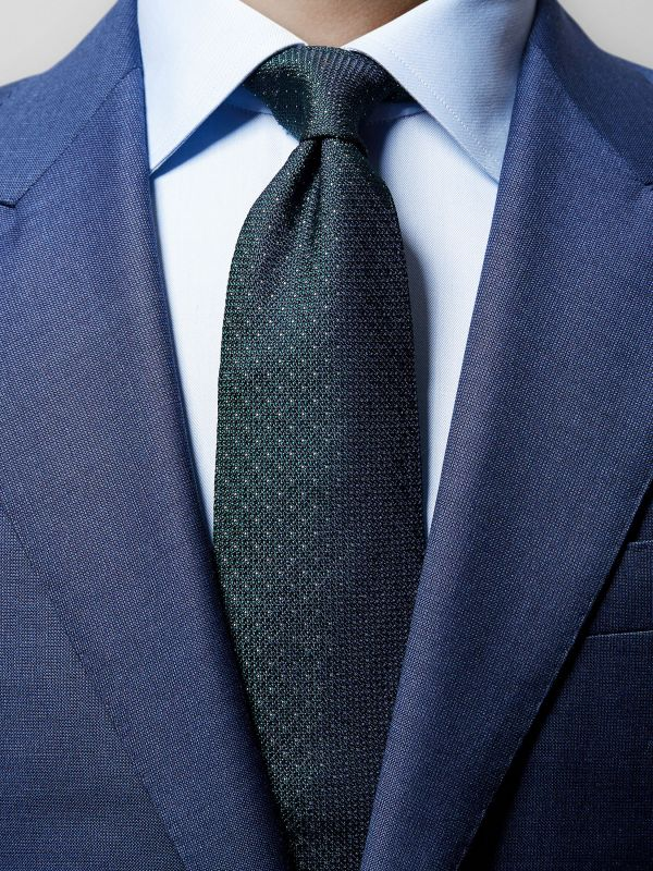 Green Dotted Silk Tie