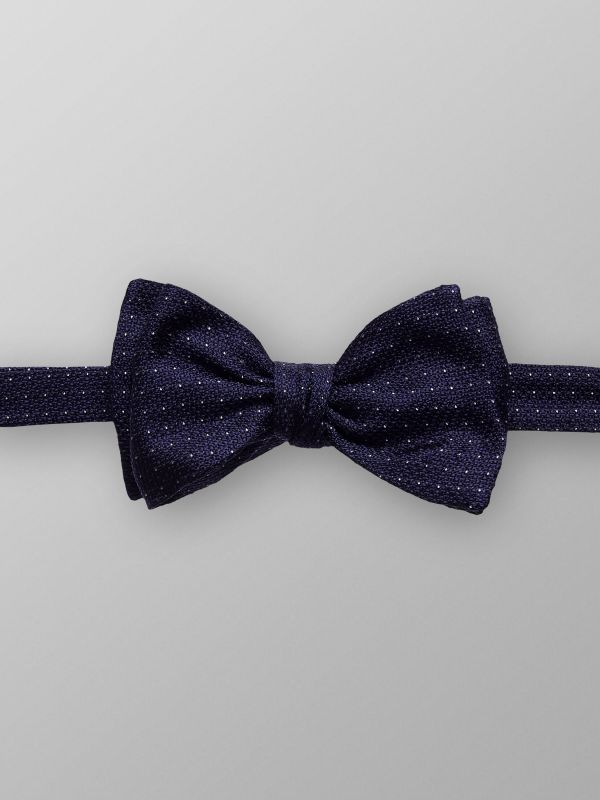 Navy Dotted Bowtie