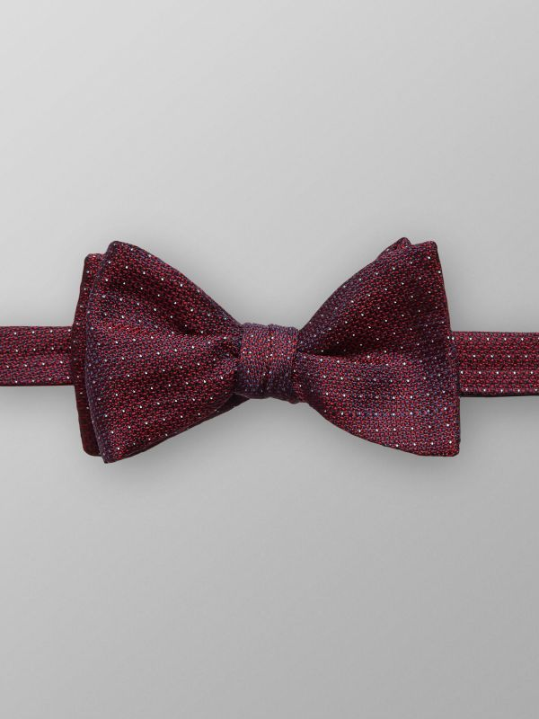 Red Dotted Silk Bow tie
