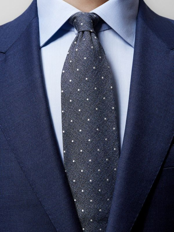 Grey Dotted Tie
