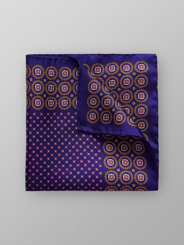 Blue Geometric Pocket Square