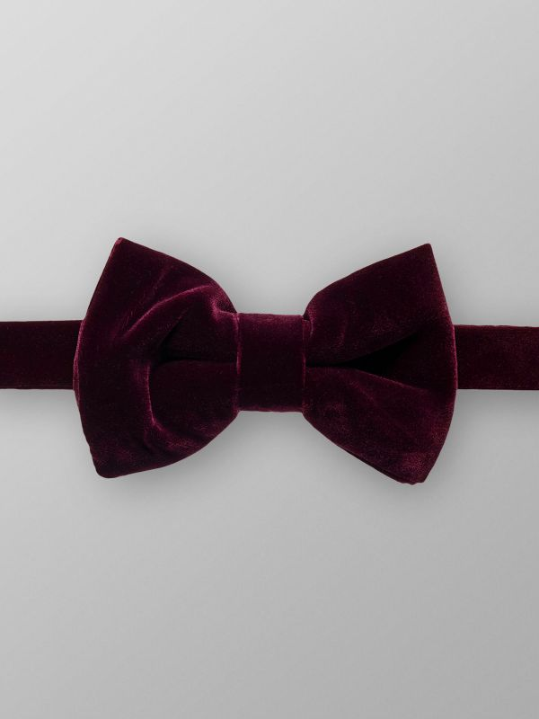 Red Velvet Bow tie - Ready Tied