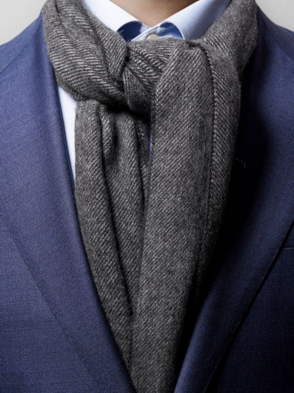 Dark Grey Wool Scarf