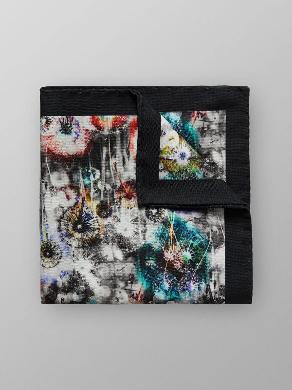 Floral Cotton & Silk pocket Square