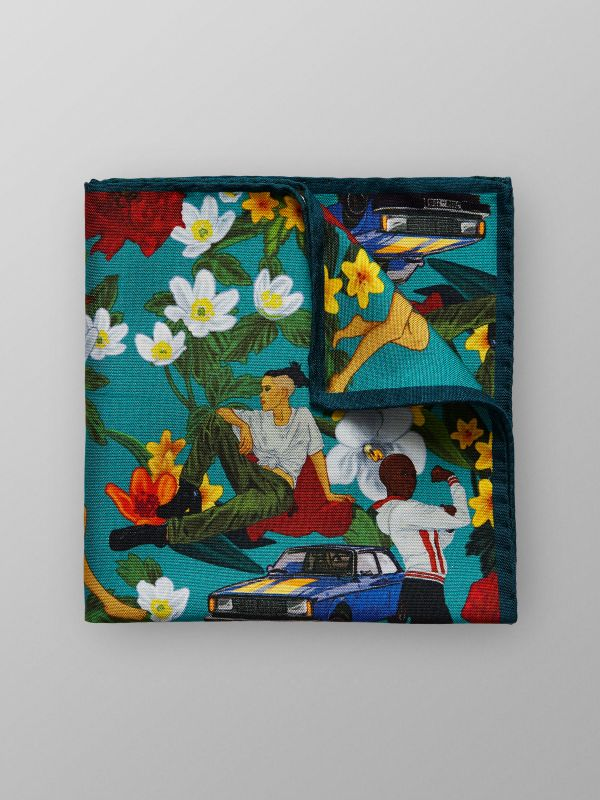 Modern Hawaii Pocket Square