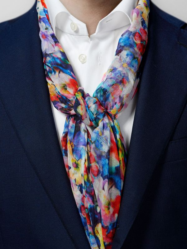 Multicolour Floral Cotton & Modal Scarf