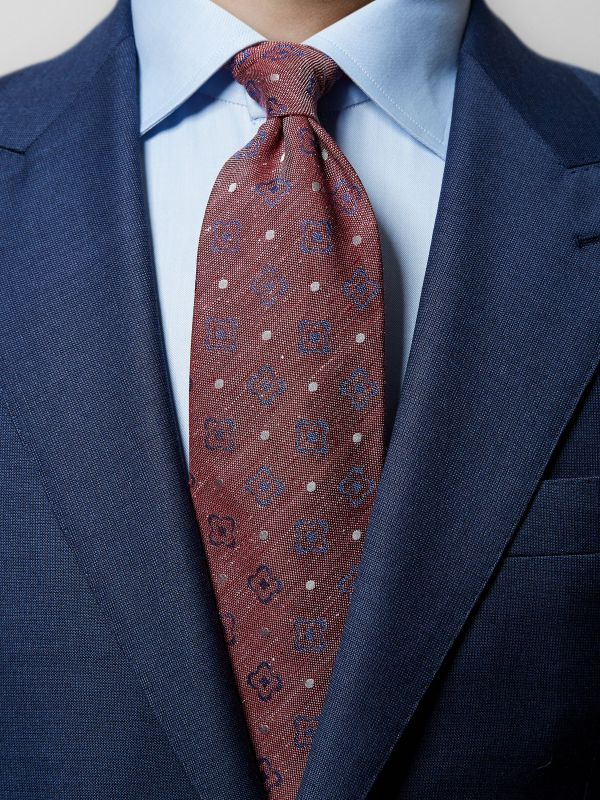 Red Floral & Dotted Tie