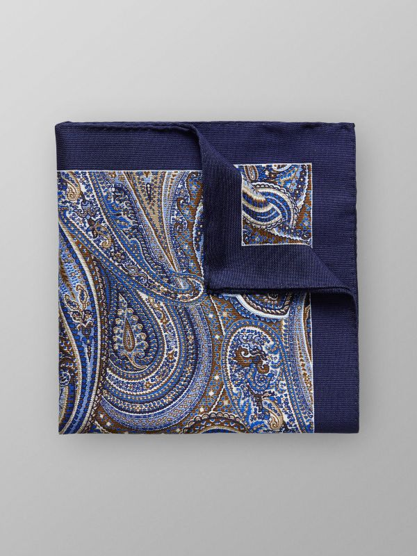 Paisley Cotton & Silk Pocket Square