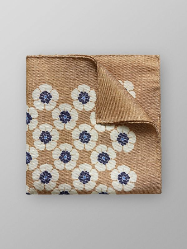 Floral Linen & Silk Pocket Square