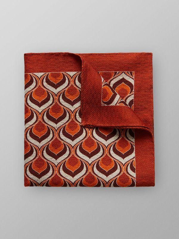 Orange Cotton & Linen Pocket Square