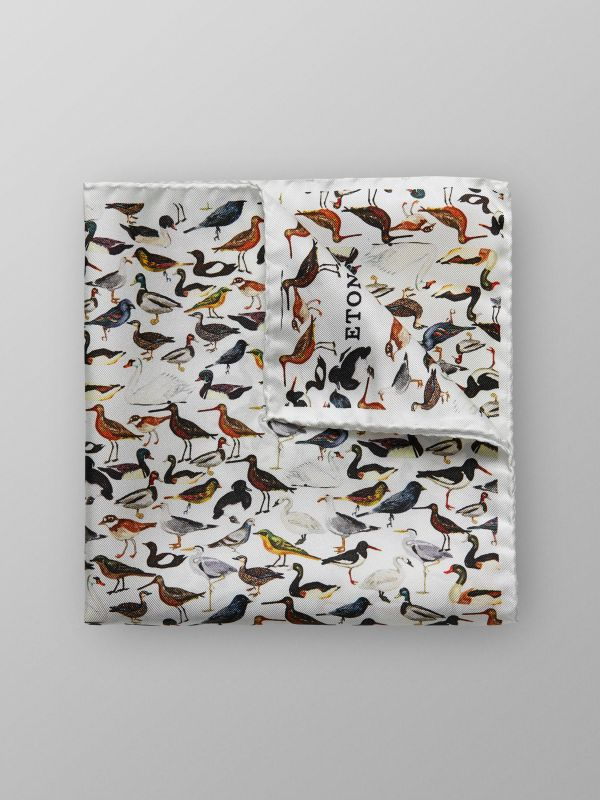 Bird Print Pocket Square