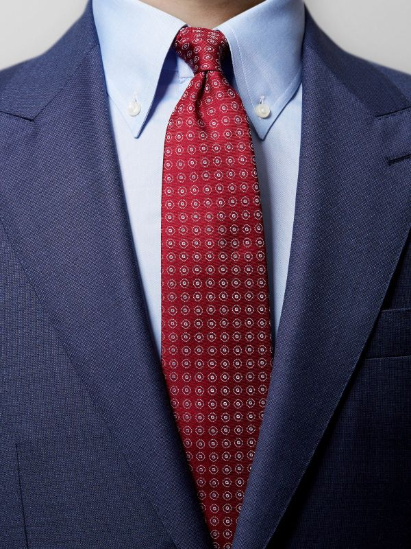 Red Dotted Silk Tie