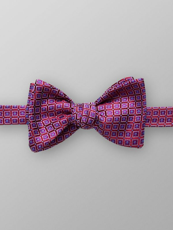 Red & Purple Geometric Bow Tie