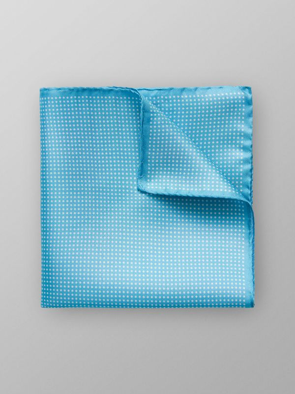 Turquoise Dotted Pocket Square
