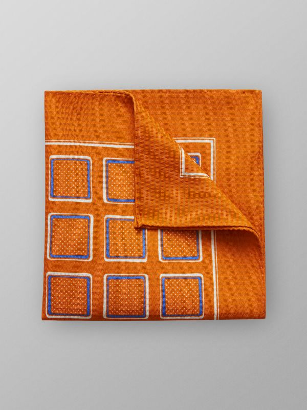 Orange Pocket Square