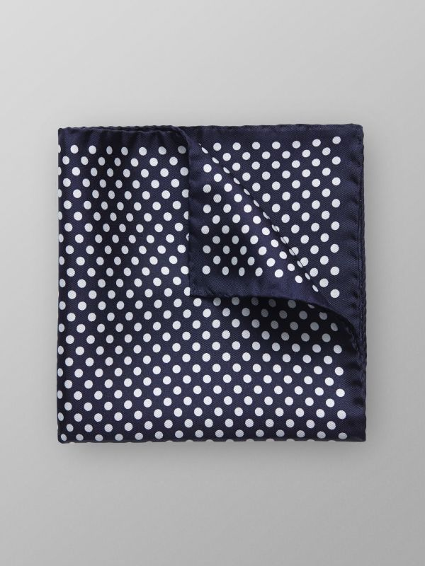 Blue Polka Dot Pocket Square
