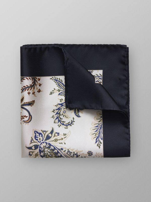 Off-White Floral Pocket Square