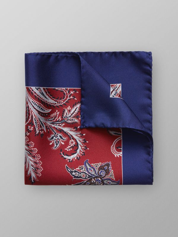 Red Floral Pocket Square