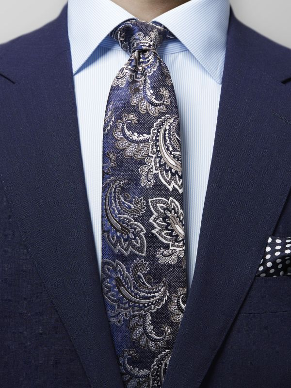 Purple Paisley Silk Tie