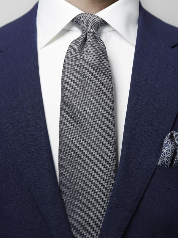 Grey Wool & Silk Tie
