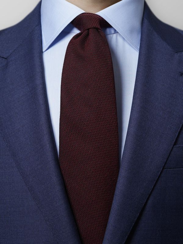 Red Wool & Silk Tie