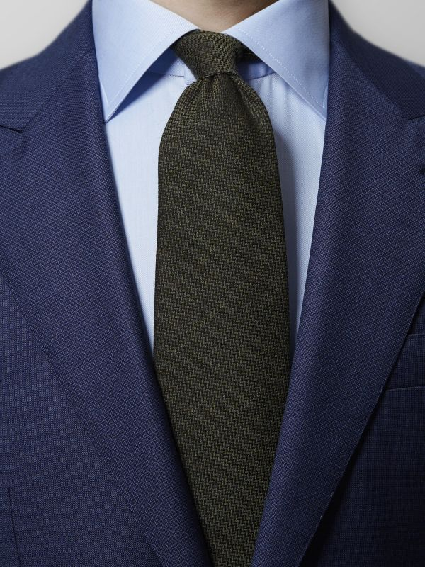 Green Wool & Silk Tie