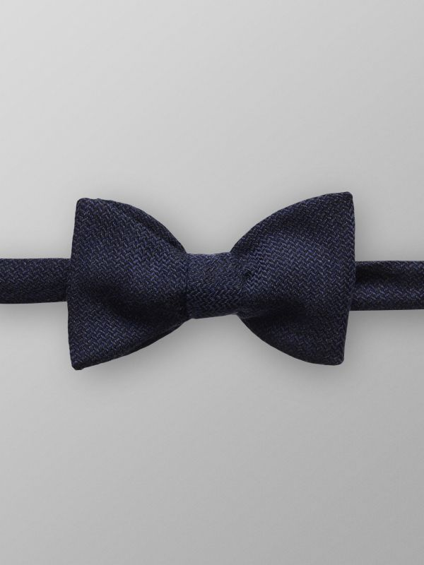 Blue Geometric Bow Tie - Ready Tied