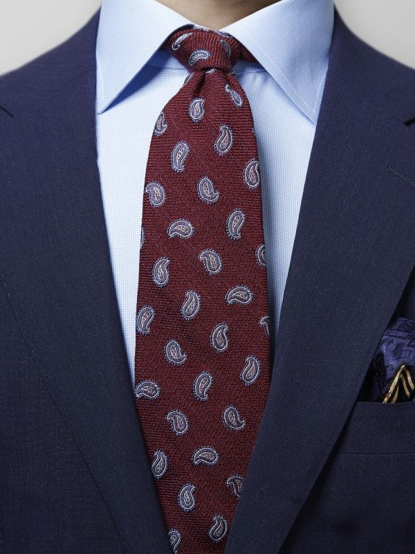 Red Wool & Silk Paisley Tie