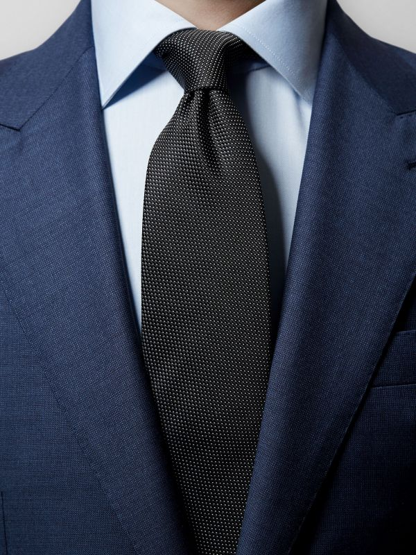 Black Pin-Dots Silk Tie