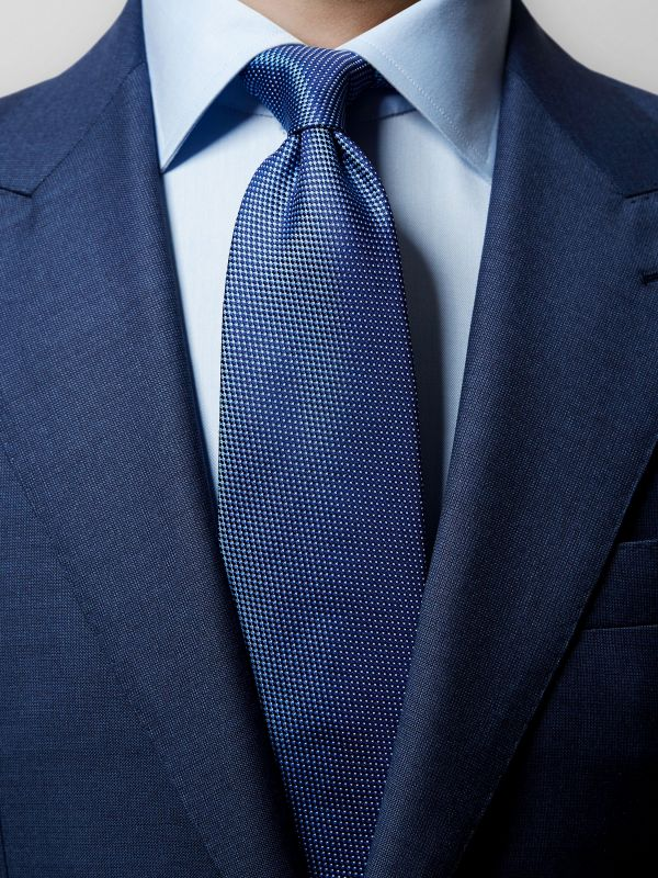 Blue Pin-Dots Silk Tie