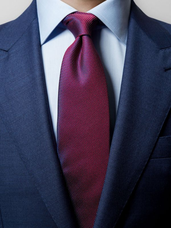 Red Pin-Dots Silk Tie