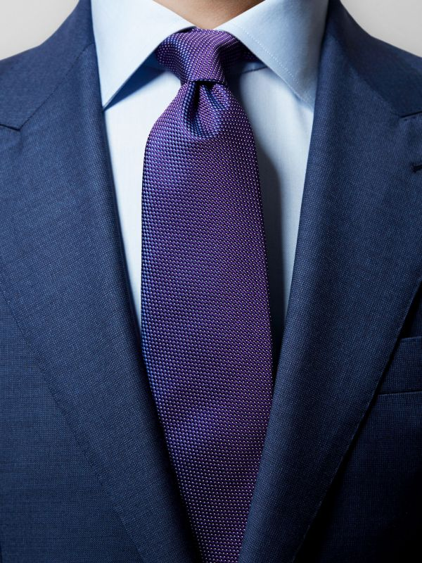 Purple Pin-Dots Silk Tie