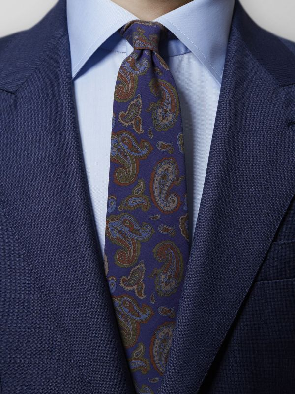 Purple Madder Paisley Tie