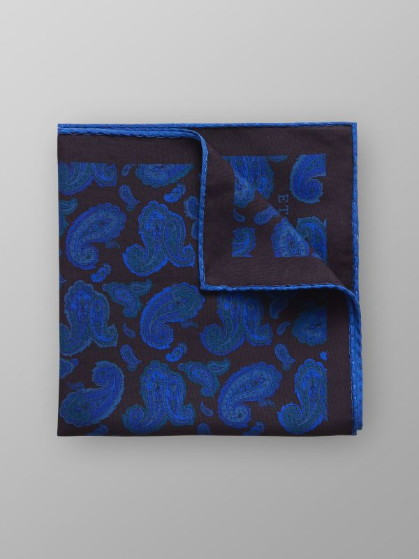 Paisley Fuji Silk Pocket Square